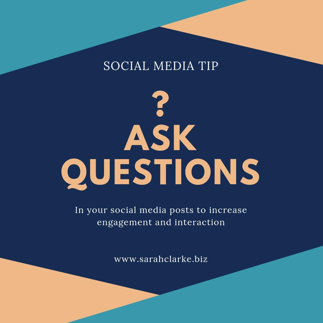 Social Media Content Tip Ask Questions