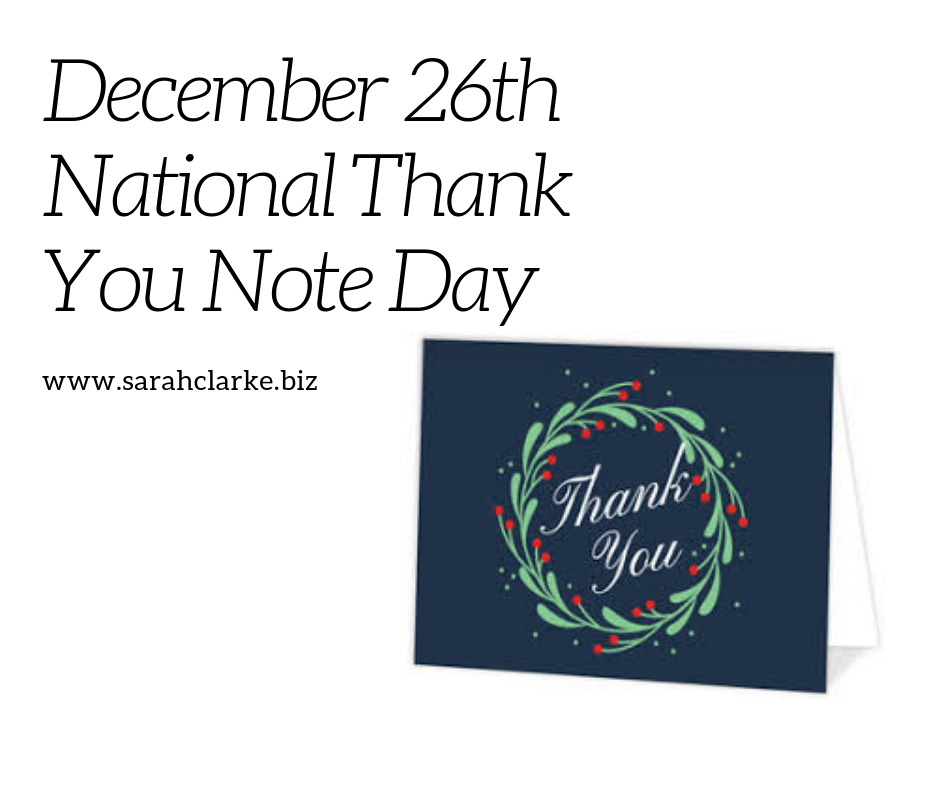 December 26thNational Thank You Note Day