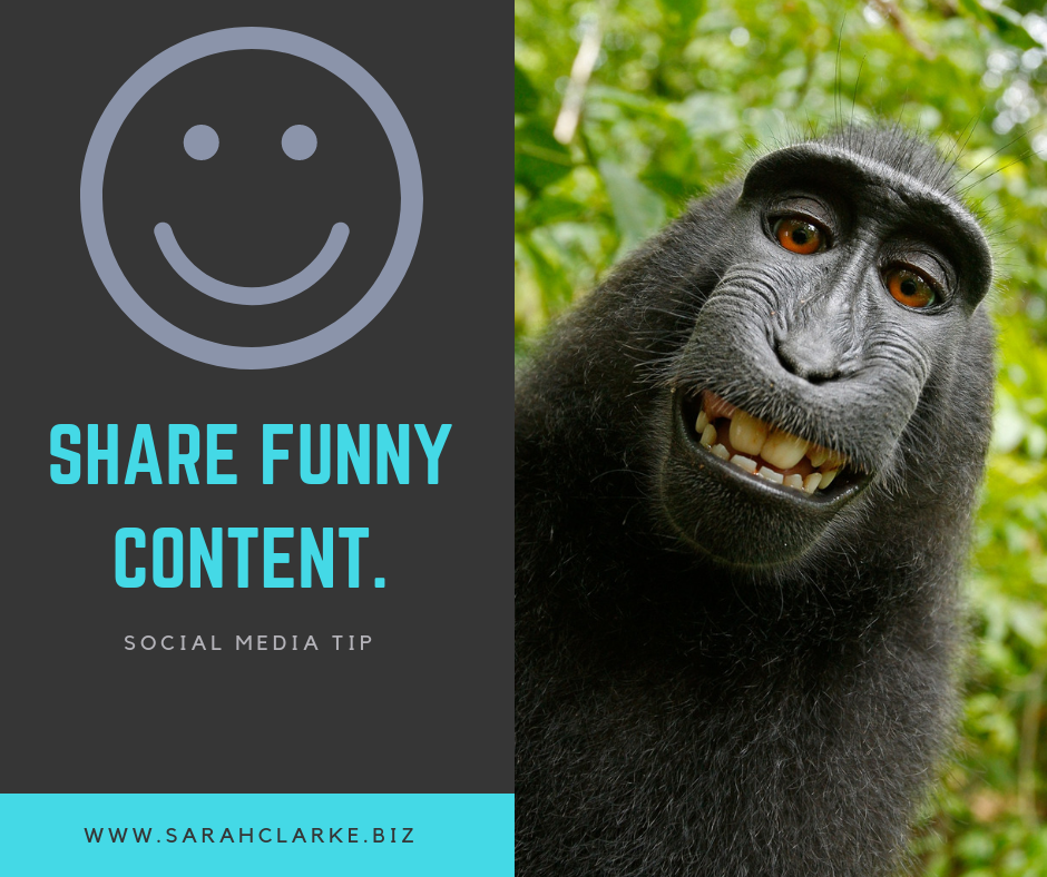 social media tip share funny content