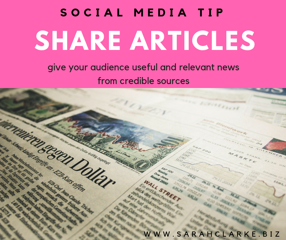 social media tip share articles