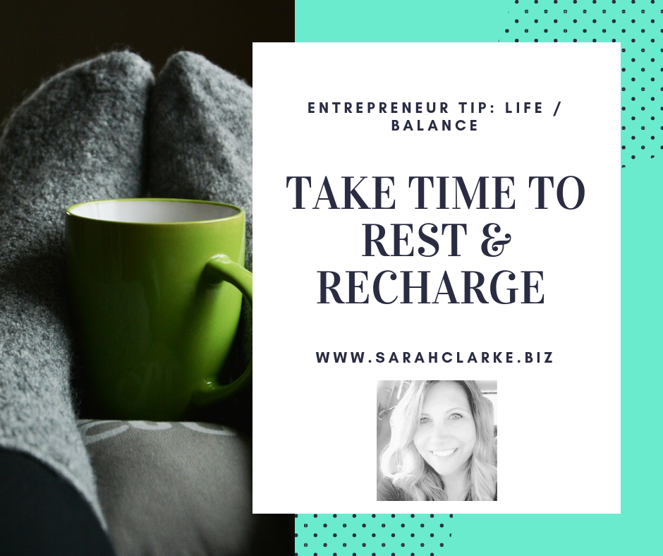 Entrepreneur Tip balance life and work