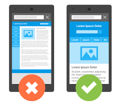 This image shows a mobile friendly website vs a non mobile friendly website