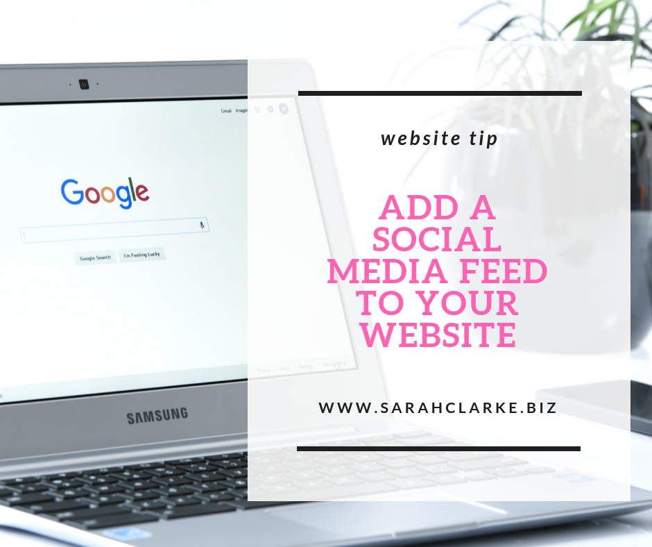 website tip add a social media feed