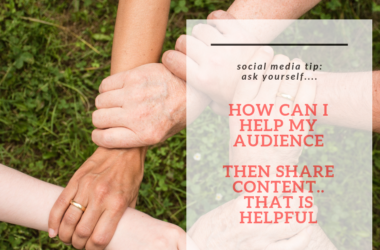 social media content tip share content that is helpful