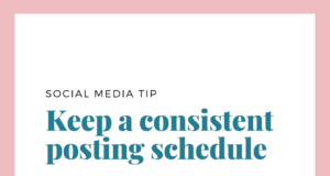 social media post keep a consistent posting schedule