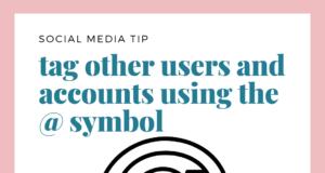 social media tip tag other accounts
