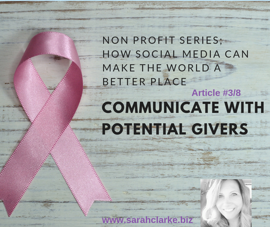 how to connect your charity to potential givers
