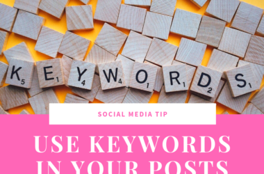 social media tip use keywords in your posts