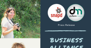 business alliance between dufferin media and snapd dufferin caledon