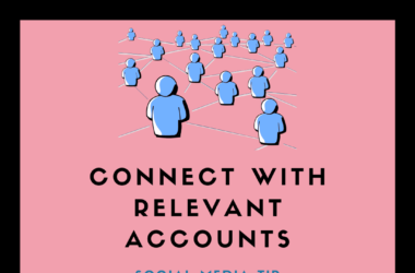 connect with relevant social media accounts