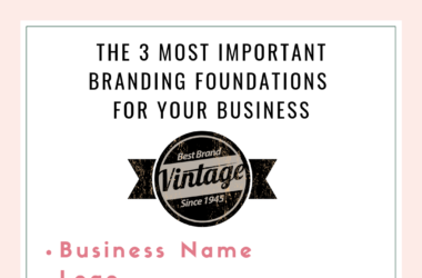 Branding Foundations for your business