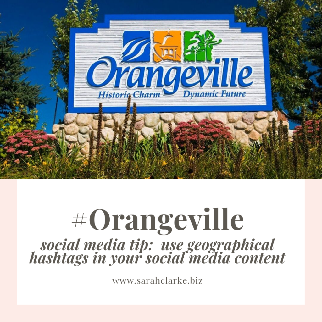 social media content tip use geographical hashtags in your posts